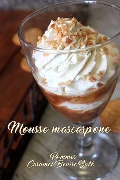 Mousse au mascarpone caramel