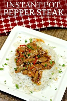 Try this amazing Instant Pot Chinese Pepper Steak Recipe. You will love this Easy Pepper Steak Recipe. The flavor in this Pressure Cooker Pepper Steak Recipe is amazing! Try this simple Instant Pot Pepper Steak and Rice Recipe. It does not disappoint. Catfish Recipes, Beef Recipes, Cooking Recipes, Beef Meals, Tilapia Recipes, Asian Recipes, Healthy Recipes, Steak Au Poivre, Rice