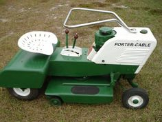 Old porter cable ride on lawn mower - Ask Me Help Desk Yard Tractors, Lawn Mower Tractor, Small Tractors, Antique Tractors, Vintage Tractors, Classic Tractor, Lawn Equipment, Riding Lawn Mowers, Porter Cable