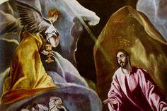 Nouveau Testament Le Christ au mont des Oliviers !détail) El Greco (Londres)