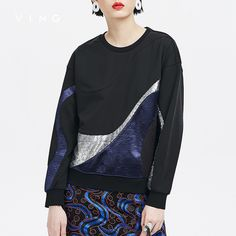 sleeve tattoos VING Sweatershirt 2017 Autumn New Abstract Sequin Pattern Women O-Neck Long Sleeve Hooded Sweatershirts *** AliExpress Affiliate's Pin.  Clicking on the VISIT button will lead you to find similar product on AliExpress website