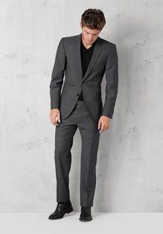 Anzug Rick James, schwarz-grau von Strellson