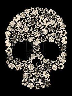 Illustration about Flowers ornated human skull vector. Illustration of death, painting, floral - 10716313 Tattoos Skull, Cool Tattoos, Tatoos, Paisley Flower Tattoos, Tattoo Fairy, Zealand Tattoo, Sugar Skull Art, Sugar Skulls, Totenkopf Tattoos