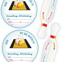 Printable Diy Bowling Party Invitation Personalized Thats How We
