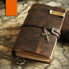 Dark brown Leather Journal Midori Traveler's by ComicHome on Etsy