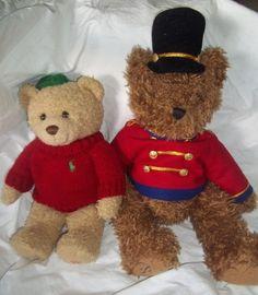 Lot 2 Stuffed Animal Plush Ralph Lauren RL 2006 Bear Belkie 99 1999 Green Red | eBay