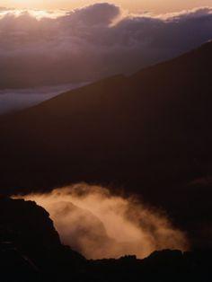 Sunrise Over Haleakala Crater, Haleakala National Park, Maui, Hawaii