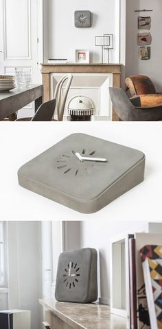 One Chic Concrete Clock! Read Full Story at Yanko Design