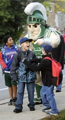 Sparty promoting good health