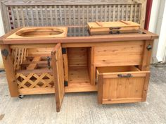 Grill & Chill Table with Prep Station for Green by RusticWoodWorX