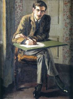 John Maynard Keynes Duncan Grant (Scottish, Oil on canvas. After taking his degree in Keynes moved to London and worked for the government service that administered India,. Duncan Grant, Dora Carrington, Maynard Keynes, Vanessa Bell, Bell Art, Bloomsbury Group, Virginia Woolf, Paintings I Love, Les Oeuvres