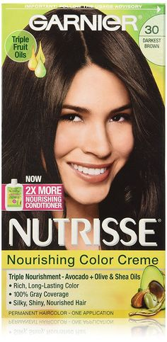 Garnier Nutrisse Nourishing Color Creme 30 Darkest Brown (Sweet Cola) * Check out this great product.
