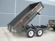 Our Bri-Mar LP Series dump trailers are designed for regular commercial work. The LP Series offers a and with available capacities starting at GVWR through GVWR. Tilt Trailer, Trailer Plans, Trailer Build, Garden Tractor Attachments, Deck Over, Equipment Trailers, Steel Deck, Dump Trailers, Compact Tractors