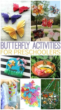 Butterfly activities for preschoolers! SO many fun ideas for springtime!