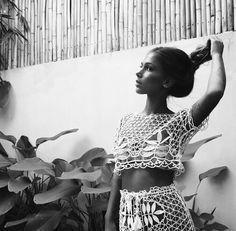 @_joanne_mckay in the St. Tropez Crochet crop & Skirt