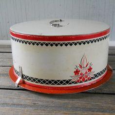Vintage Cake Carrier 1920's 1930's Era by lisabretrostyle2