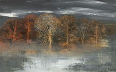 'Copse: Front' by Mary Ann Aytoun-Ellis (egg tempera, pen and ink on panel)