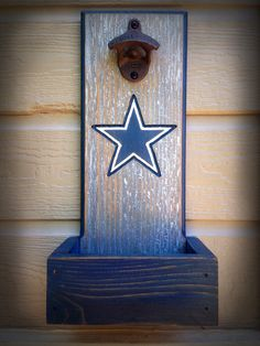 Dallas Cowboys bottle opener with cap catcher by TreyColeCreations