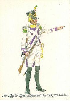 33e régiment de ligne caporal des voltigeurs 1807