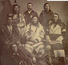 Chief Charlo (seated center) and Peter Ronan (standing center). 1884 Flathead Indian Washington Delegation.   Flathead Chief Aneas.    Fla...
