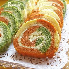 Les plats roumaines: Roulé apéritif tricolore à la crème de fromage