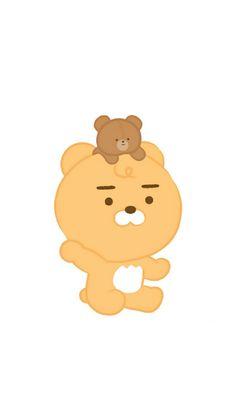 Friends Wallpaper, Bear Wallpaper, Pastel Wallpaper, Wallpaper Iphone Cute, Best Quotes Wallpapers, Cute Cartoon Wallpapers, Ryan Bear, Kakao Ryan, Apeach Kakao
