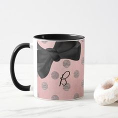 Rose Gold Pink Shine Glam Polka Dots Modern Chic Mug
