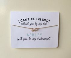 Such a cute way of asking...personalised, a keep sake and can be coordinated in line with your wedding theme!! Available in many colours!!
