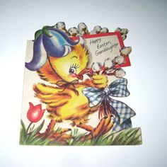 Vintage 1940s Easter Greeting Card with Cute by grandmothersattic, $3.95