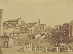 The tree-lined avenue of an unexcavated Roman Forum in 1856-59, by Mrs. Jane St. John (British, 1803-82) | #getty