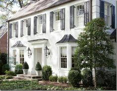 Love the classic traditional home and black and white colors.
