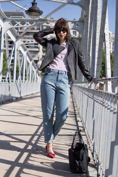 high waist jean, pimkie, minelli heels // www.thelibrarianchic.com
