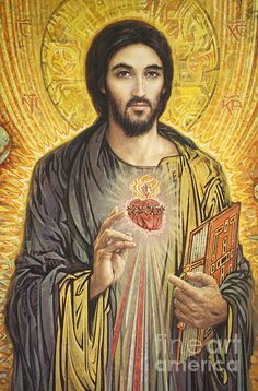 Sacred Heart Of Jesus Olmc by Smith Catholic Art