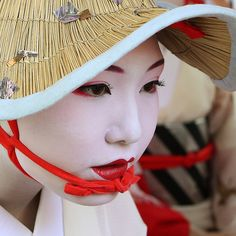 Japanese geisha; sometimes a mask can hide our deepest emotions slightly below the surface.