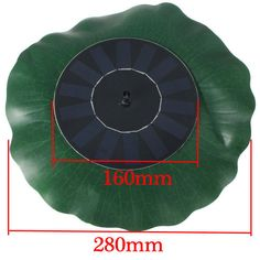 Solar Floating Lotus Leaf Fountain Water Pump Garden Pond Decoration Track Numbe