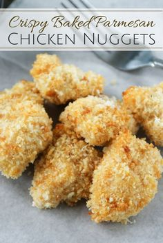 Amazingly crispy and flavorful baked Parmesan crusted chicken nuggets that both kids and adults will love!