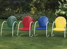 Retro Metal Lawn Chair from Midnight Velvet®