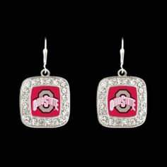 Ohio State University Dangling Crystal Earrings Buckeyes Accessories by FTH Wholesale. $14.99. Lead, nickel, and cadmium safe and protected from tarnishing. Features OSU Buckeyes logo surrounded by sparkling crystals. Perfect gift for an Ohio State Buckeye fan!. Sterling plated. Earring wires are made with stainless steel and are hypoallergenic. Cheer on the Ohio State University Buckeyes in style with these beautiful Ohio State University dangling crystal earrings from F...