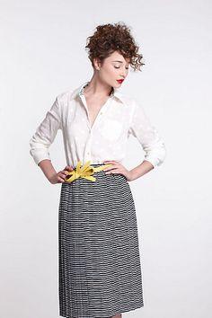Navy Day Midi Skirt