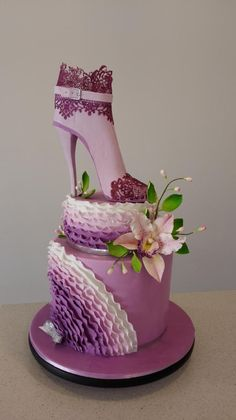 Heel boot and orchid  by Bistra Dean