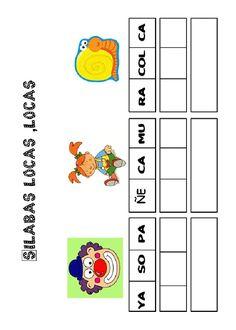 Actividades para imprimir Pon las sílabas en orden 4