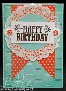 Birthday Card with the Your Amazing Stamp Set by UK Stampin' Up! Demonstrator Bekka Prideaux - there are lots of ideas using this stamp set on her blog