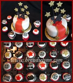 Hollywood cake and cupcakes