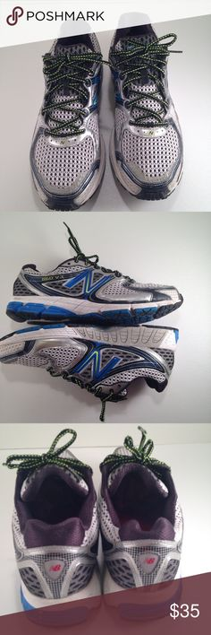 New Balance 860 V3 Men's Running Shoe 14 New Balance 860 V3 Men's Running Shoe SIZE 14. M860SB3 pre-Owned. Minor wear and tear on soles of the shoes. In color blue, black, grey and silver. Very Good Condition. New Balance Shoes Sneakers
