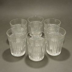 EAPG Fostoria Glass Edgewood Set 6 Tumblers This set of six EAPG Fostoria #675 Edgewood tumblers made from 1898 to 1908 are beautiful clear, heavy