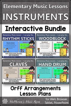 Elementary Music Lessons! Perfect for your music lesson plans working with non-pitched percussion instruments and rhythm! Engaging music activities to address the Orff and Kodaly music curriculum. Check them out! Teaching Music, Music Teachers, Orff Arrangements, Music Education Activities, Elementary Music Lessons, Music Lesson Plans, Music Mix, Music Class, Flute Problems