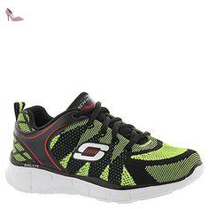 Skechers Equalizer Quick Track, Sneakers Basses Garçon, Gris (Charcoal/Noir), 35 EU (2 UK)