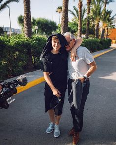 Martin Garrix with his papa
