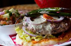 Want to give your burgers an Indian flavor? Try this recipe...: Indian style burger
