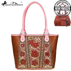 MW486G-8317 Montana West Floral Concealed Carry Satchel-Brown Free Shipping On All Orders Over $79 #ConcealedCarryPurses #Womens #MontanaWest #unspokenfashion #fashion #onlineshopping #boutique #stylish #trending #clothing #shoes